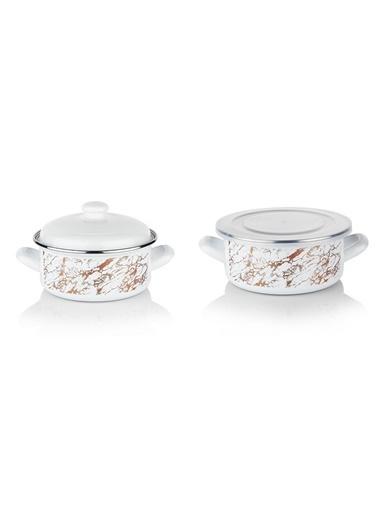 Schafer Pişir Sakla Tencere 18 Cm (88024) Beyaz Beyaz